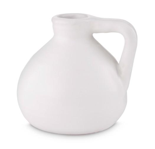 vt wonen Vaas Keramiek Belly Shape matt white 11 cm