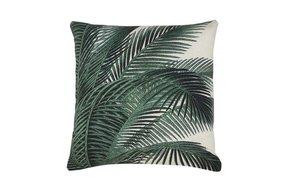 geprint kussen palmbladeren 45x45cm
