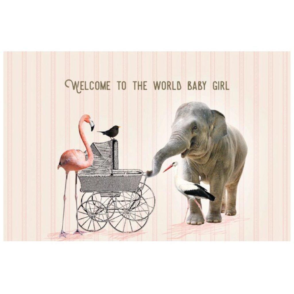 Kaart Vintage 1963 welcom baby girl