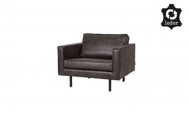 BePureHome Rodeo Love-seat eco leather zwart