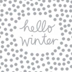 Räder servetten Hello Winter
