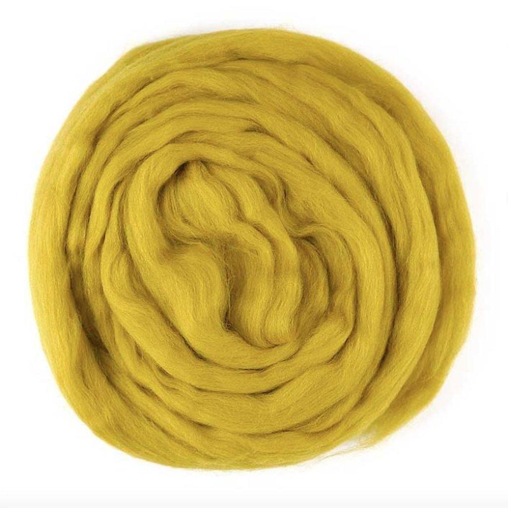 Lontwol voor armbreien XXL, geverfd okergeel 1 kg