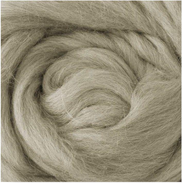 Lontwol voor armbreien XXL, licht grijs 1 kg