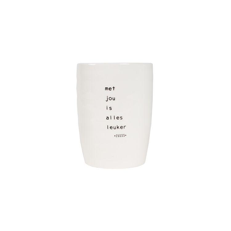 Zusss Koffiemok aarderwerk met jou is alles leuker