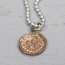 18138 - Hanger zilver + rood koper