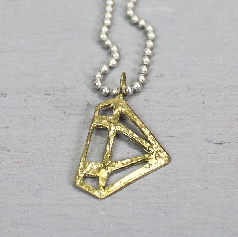 18660 - Hanger messing diamant