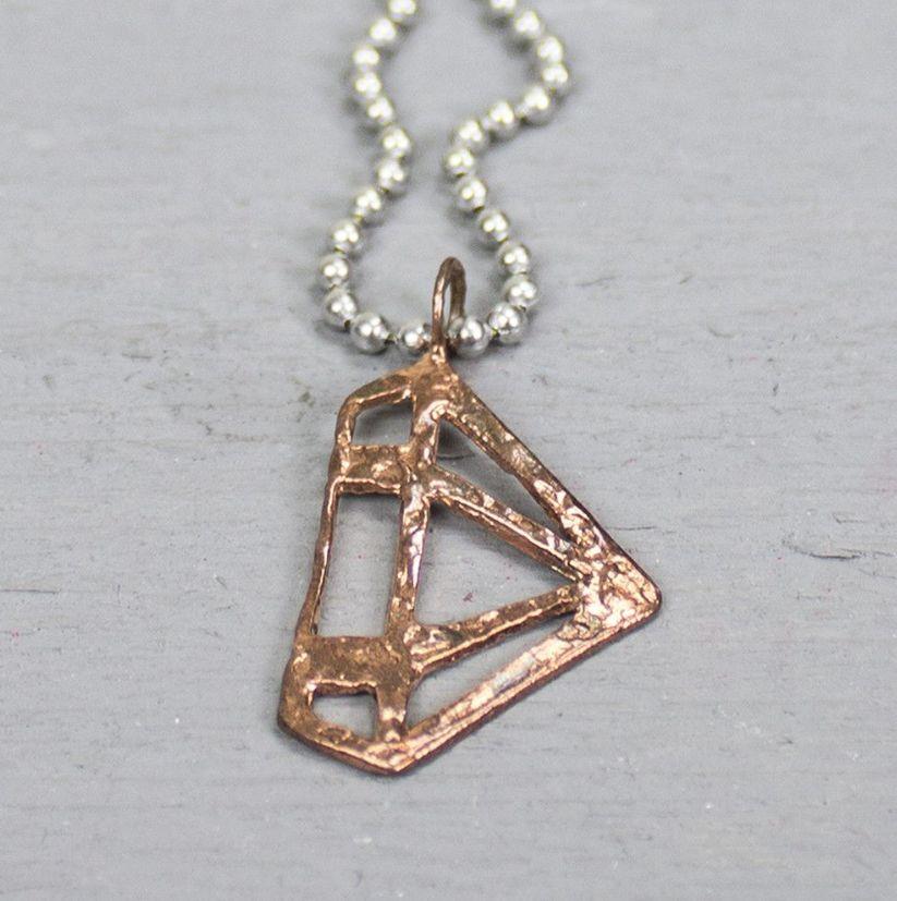 18661 - Hanger roodkoper diamant
