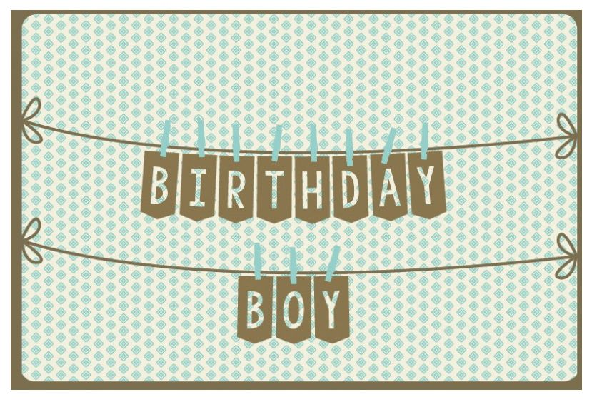 Enfant Terrible Kaart Nordic 988 birthday boy