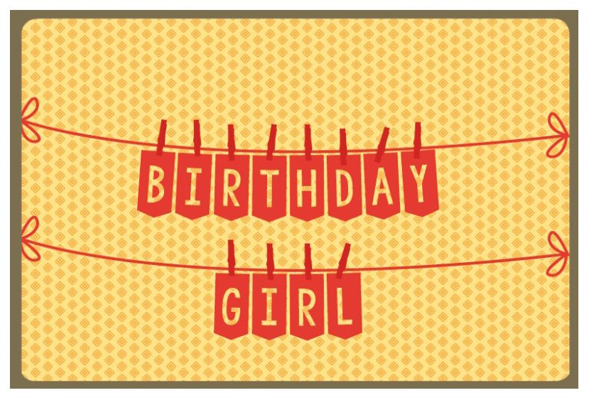 Enfant Terrible Kaart Nordic 989 birthday girl
