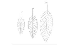 Metal leaf set 3 Metaal
