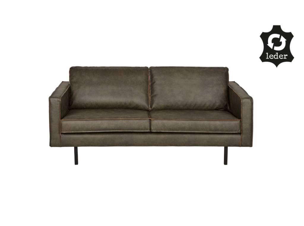 BePureHome Rodeo Bank Eco leder Army Green 2,5-zits