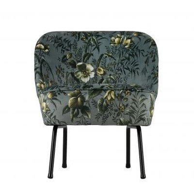 BePureHome Vogue fauteuil fluweel - Poppy grijs