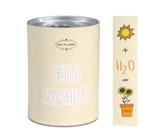 My Flame Bloemen in blik - Hello sunshine