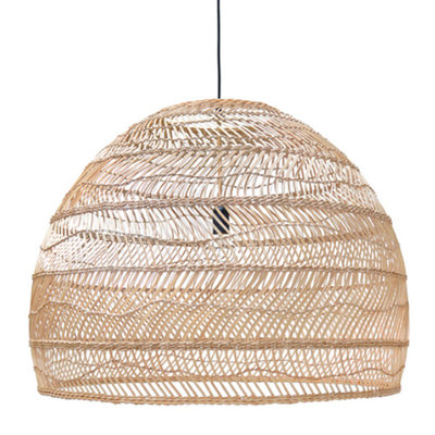 HKliving Wicker hanglamp natural L  80 cm