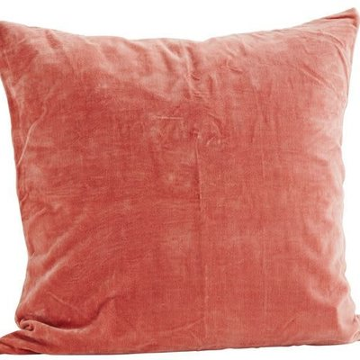 Madam Stoltz Velvet cushion  Dusty rose VC365