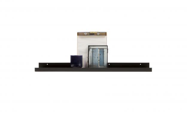WOOOD Ravi fotolijstplank metaal zwart 80cm
