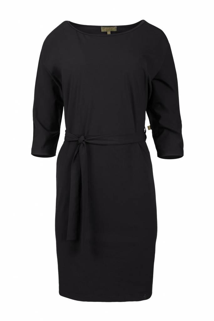 Zusss Sjiek jurkje met ceintuur zwart
