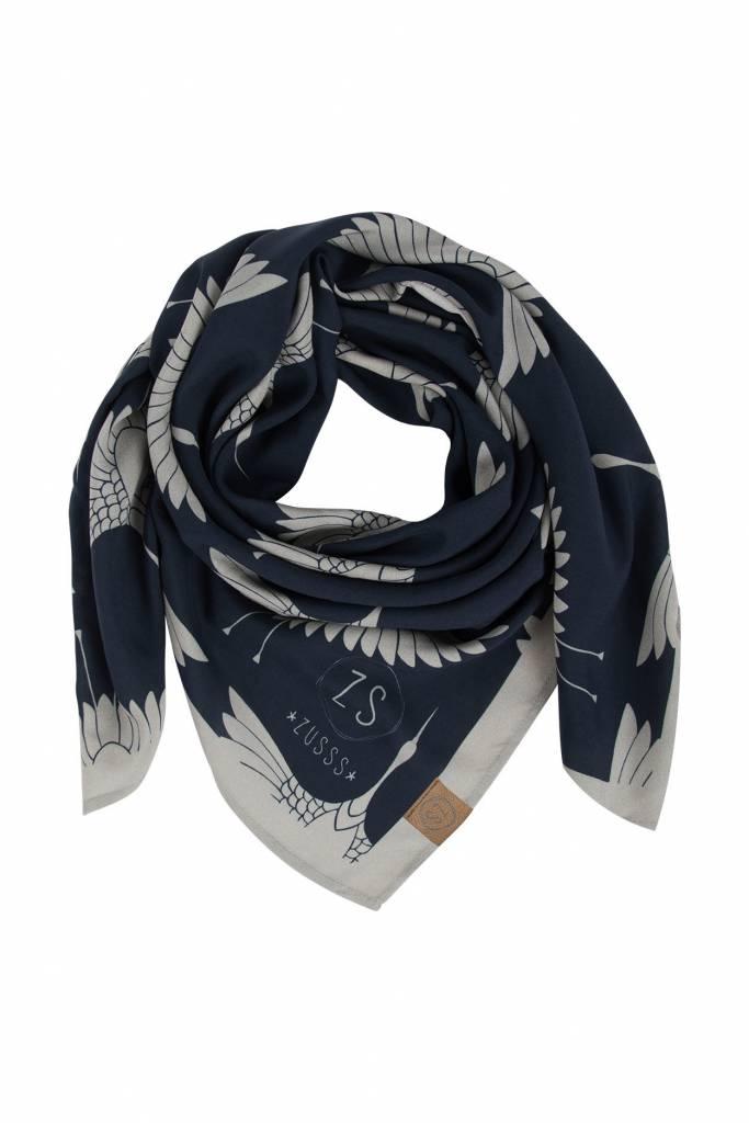 Zusss frivole sjaal nachtblauw