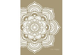 Yoga mandala sjabloon 116 x 116 cm
