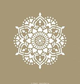 Mandala Stencils Tibet mandala sjabloon 43 x 43 cm