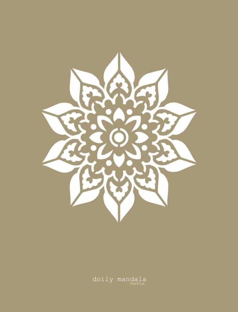 Mandala Stencils Doily mandala sjabloon 43 x 43 cm