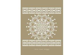 Ibiza Carpet mandala sjabloon 95 x 95 cm