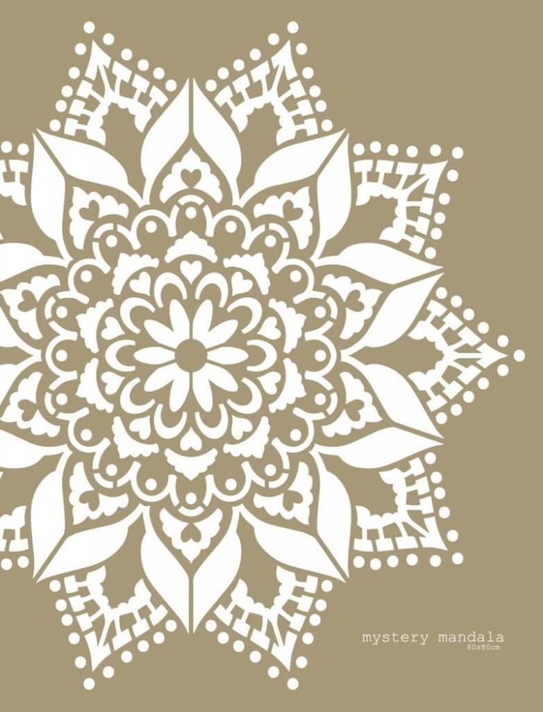 Mandala Stencils Mystery mandala sjabloon 80 x 80 cm