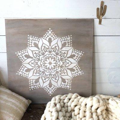Workshop Mandala wandbord 90x90cm maken