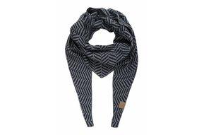 puntsjaal visgraat grijs/nachtblauw