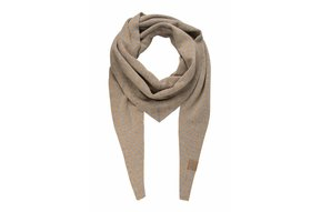 puntsjaal visgraat grijs/camel