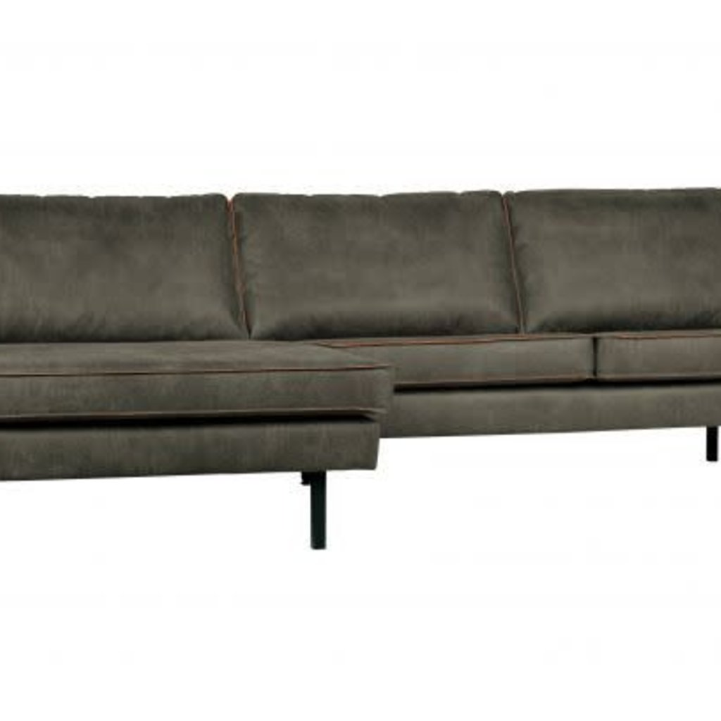 BePureHome Rodeo bank met chaise longe links army