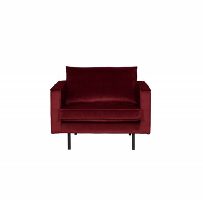 BePureHome Rodeo Fauteuil Velvet Red