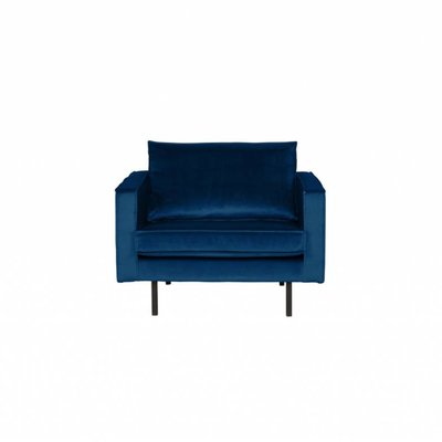 BePureHome Rodeo Fauteuil Velvet Dark Blue