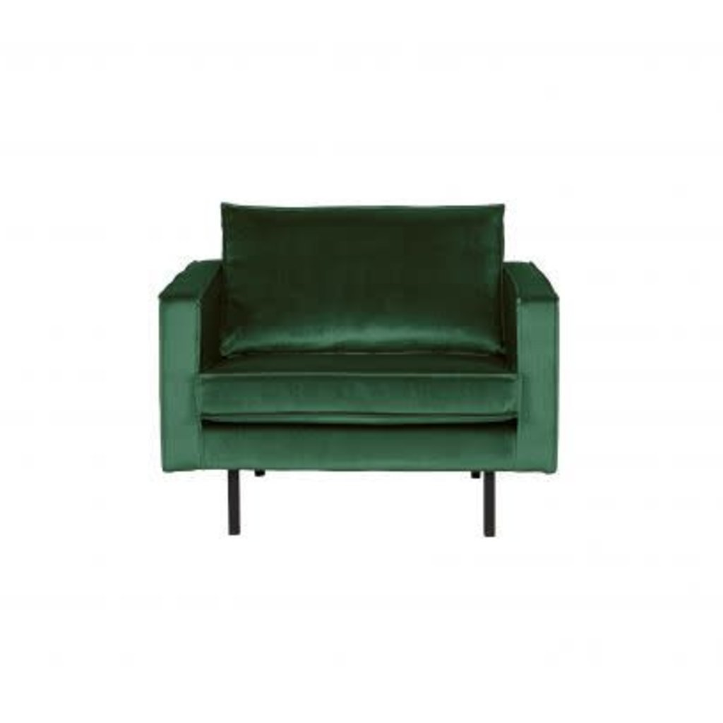BePureHome Rodeo Fauteuil Velvet Forest Green