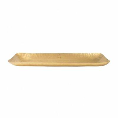 dienblad metaal 30cm goud