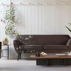 WOOOD Rocco sofa 187 cm fluweel bamboe print