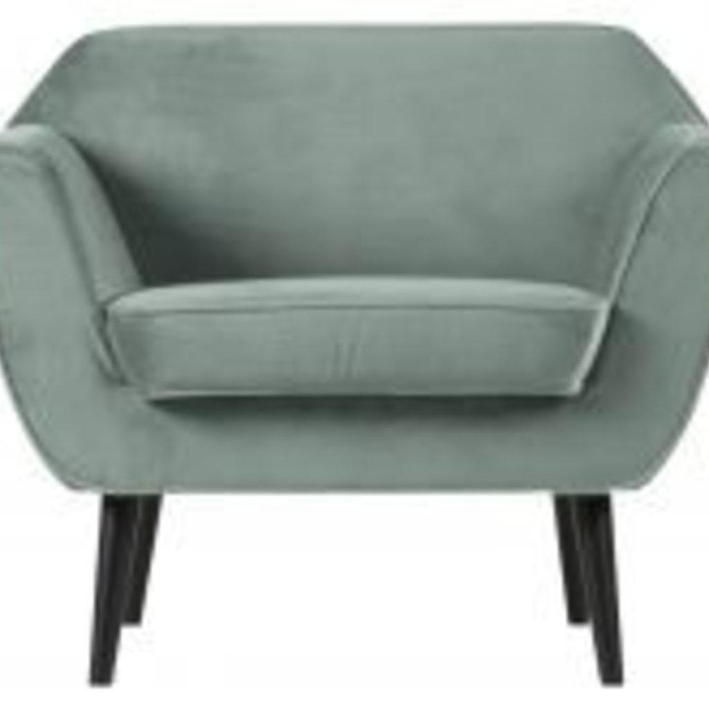WOOOD Rocco fauteuil fluweel mint
