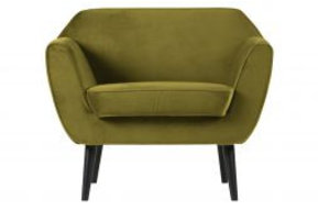 Rocco fauteuil fluweel olive