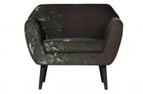Rocco fauteuil fluweel bamboe print