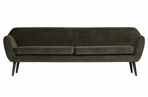 Rocco xl sofa 230 cm fluweel warm groen