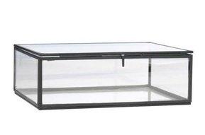 glass box Black, 22x17,5x8cm