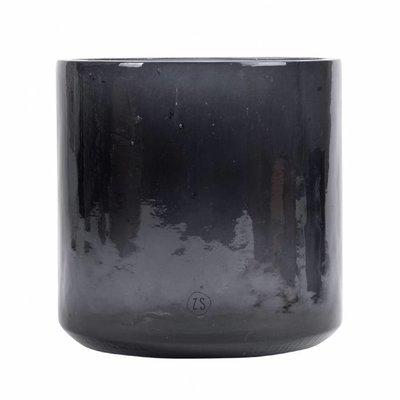 Zusss Vaas gerecycled glas zwart