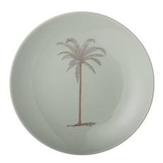 Palm Plate, green, aardewerk