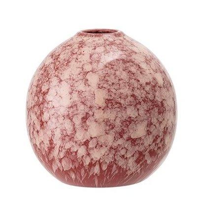 Vase rose, aardewerk