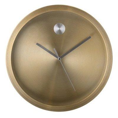 Wall Clock, Gold Aluminium