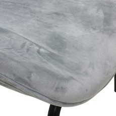 HKliving Dining chair velvet, cool grey