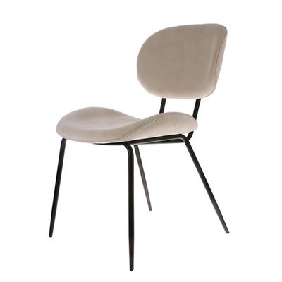 HKliving Dining chair rib crème