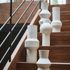 HKliving Speckled clay vase round M