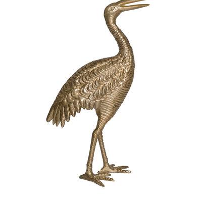 Zusss Kraanvogel metaal goud L