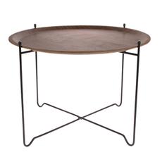 HKliving Side table L - Walnut